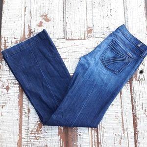7FAM dojo jeans darker wash 30